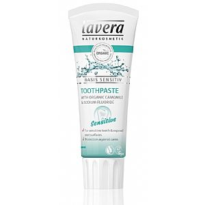 Dentífrico Sensitive Manzanilla y Flúor Bio Lavera 75 ml.