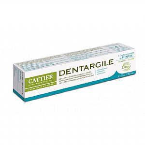 Dentargile Menta sin flúor Cattier 75 ml.