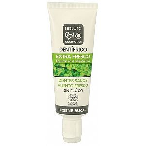 Mini dentífrico extra fresco Equinácea & Menta NaturaBIO 25 ml.