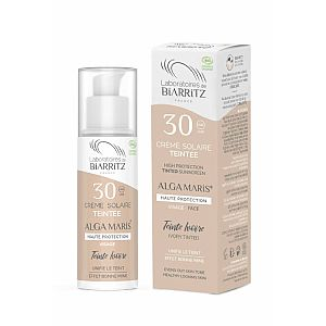 Crema facial solar SPF30 con color Light Alga Maris 50 ml.
