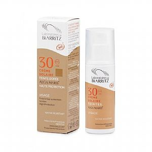 Crema facial solar SPF30 con color Golden Alga Maris 50 ml.
